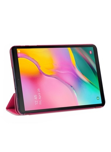 Microsonic Samsung Galaxy Tab A 10.1'' T510 Smart Case ve arka Kılıf Koyu Pembe Pembe